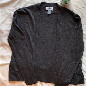 Old Navy Dark Charcoal Cardigan - Size Small